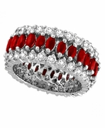 Eternity Diamond and Ruby Ring Band