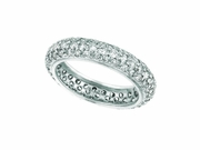 Eternity diamond pave set ring
