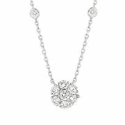 Flower & 8 bezel diamond necklace