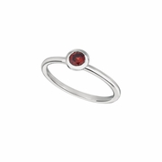 Garnet bezel set ring