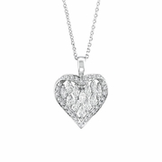 Marquise Diamond Heart Pendant Necklace