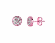 Pink gold diamond earrings