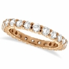 Pink gold eternity diamond ring