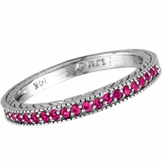 Pink Sapphire Stack Stackable Band Guard Ring