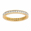 Princess cut eternity diamond ring