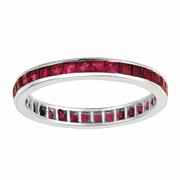 Princess cut eternity ruby ring