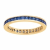 Princess cut eternity sapphire ring