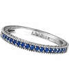 Sapphire Stack Stackable Band Guard Ring