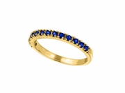 Sapphire Stackable Ring, 14K Yellow Gold