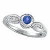 Tanzanite Bezel Ring with Diamond
