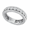 Three Sided Bezel Set Diamond Eternity Ring Band