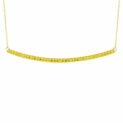 Yellow diamond bar necklace