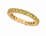 Yellow diamond eternity band