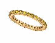 Yellow diamond eternity ring