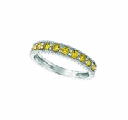 Yellow diamond stack ring
