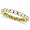 Yellow gold eternity diamond ring