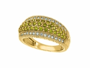 Yellow & white diamond pave ring
