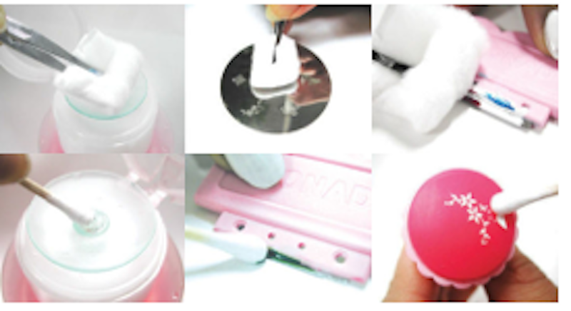 Clean Stamp Ser And Image Plate With Nail Polish Remover