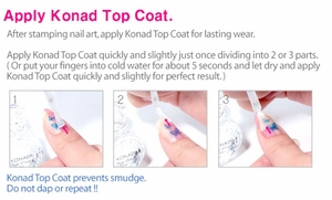 Instruction for applying topcoat