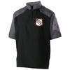 1/4 ZIP SHORT SLEEVE JACKET - EMB LOGO