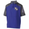 1/4 ZIP SHORT SLEEVE JACKET - EMBROIDERED LOGO