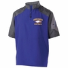 1/4 ZIP SHORT SLEEVE PULLOVER JACKET - EMBROIDERED LOGO