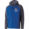 FULL ZIP SOFT SHELL JACKET WITH HOOD - EMB LOGO