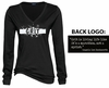 GRIT LONG SLEEVE V-NECK T-SHIRT - WOMEN'S SIZING
