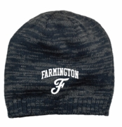 KNIT BEANIE - 2 TONE - EMBROIDERED LOGO