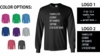 LONG SLEEVE T-SHIRT - MEN'S SIZING