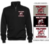 MILFORD MAVERICKS 1/4 ZIP CREW SWEATSHIRT