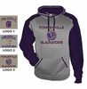 PERFORMANCE HOODED SWEATSHIRT PURPLE SLEEVES - ADULT ONLY