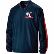 PULLOVER JACKET WITH EMBROIDERED LOGO
