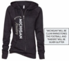 WOMEN'S BLING BURNOUT ZIP HOODIE