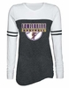 WOMEN'S VARSITY LONG SLEEVE TEE - SCREEN PRINT