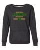WOMEN'S GLITTER CREW NECK SWEATSHIRT WITH GLITTER PRINT