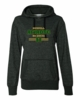 WOMEN'S GLITTER HOODED SWEATSHIRT WITH GLITTER PRINT