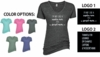 WOMEN'S MELANGE V-NECK T-SHIRT