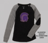 LONG SLEEVE PATCH TEE - RHINESTONE LOGO