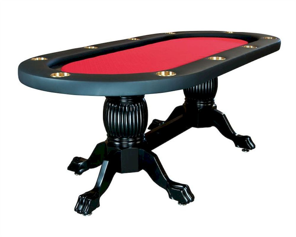 10 player poker table with pedestal legs pt 7719 for 10 player poker table
