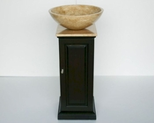 "12"" Silkroad Single Sink Cabinet Travertine Top"