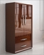 2 Door TV Armoire Modern Style in Walnut Carmen 33162CR