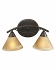 ELK 2 Light Vanity In Aged Bronze And Tea Swirl Glass EK-7641-2