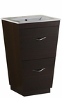 American Imaginations 21-in. W Floor Mount Wenge Vanity Set For 1 Hole Drilling