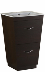 21-in. W Floor Mount Wenge Vanity Set For 1 Hole Drilling