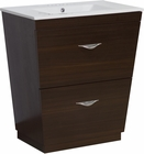 American Imaginations 21-in. W Floor Mount Wenge Vanity Set For 3H4-in. Drilling
