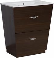 21-in. W Floor Mount Wenge Vanity Set For 3H4-in. Drilling