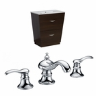 American Imaginations 21-in. W Floor Mount Wenge Vanity Set For 3H8-in. Drilling