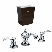 21-in. W Floor Mount Wenge Vanity Set For 3H8-in. Drilling