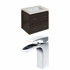 American Imaginations 23.25-in. W Wall Mount Dawn Grey Vanity Set For 1 Hole Drilling